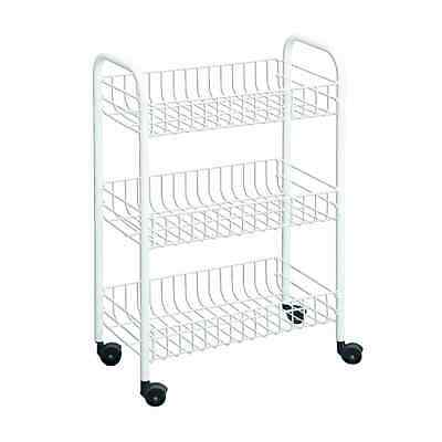 Metaltex USA Inc. 3-Tier Rolling Cart, White