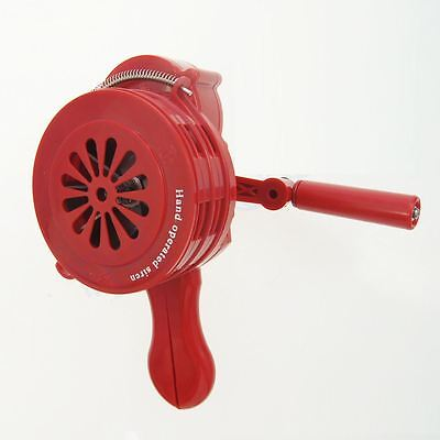 990630 Crank Hand Operated Air Raid Siren Horn Fire Emergency Safety Alarm