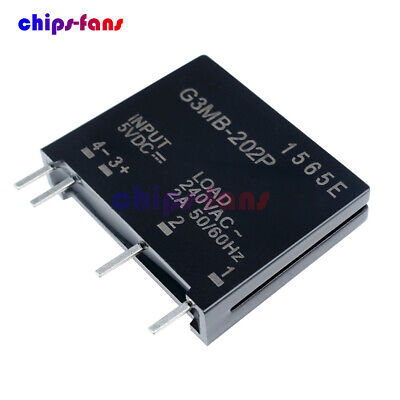 1/2/5/10x G3MB-202P-5VDC DC-AC PCB SSR In 5V DC Out 240V AC 2A Solid State Relay