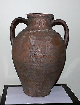 Large Ancient Red Clay two handle Vase