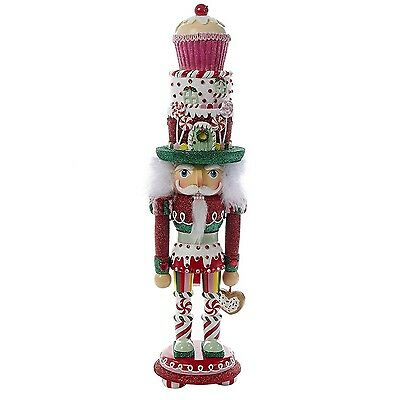 "Kurt Adler 18"" Hollywood Cupcake and Sweets Nutcracker Red"