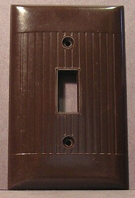Vintage Brown Ribbed Sierra Electric Light Switch Plate Cover