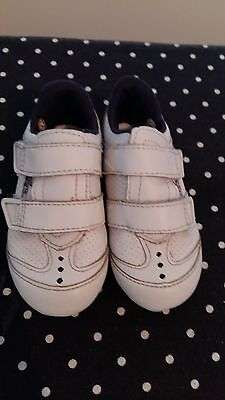 Babies Lacoste Velcro First Trainers UK Infant 3 White, Velcro Fastening