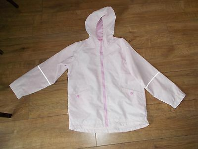 Girls La Redoute Pink with White Spot Cagoule - 9/10