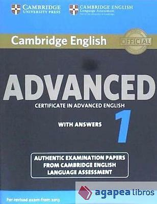 Cambridge English Advanced 1. Student's Book with Answers. LIBRO NUEVO