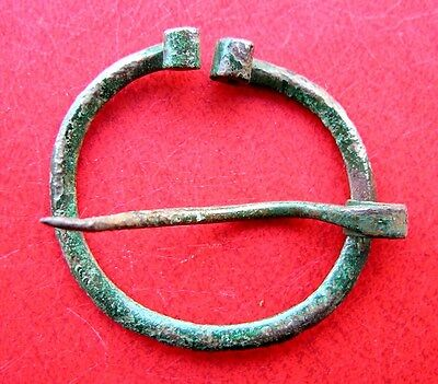 Ancient Viking Bronze Fibula Brooch