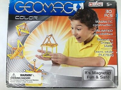 New Geomag Color 30 Pieces Magnetic Construction Swiss Made Toy