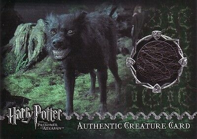 Harry Potter Prisoner of Azkaban Update Grim Fur Creature Prop Card