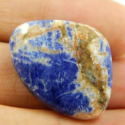 22.9 Cts 100% Natural Beautiful Sodalite Nice Blue Colour Cabochon T#1947