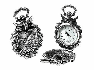 The Nevermore Fob/Pocket Watch -Alchemy Gothic -Edgar Allan Poe - The Raven AW17