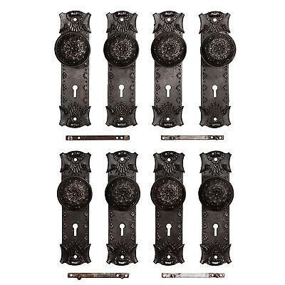 """Antique Cast Iron """"Ideal"""" Door Hardware Sets, Early 1900s, 3 Sets Avail. NDKS278"""