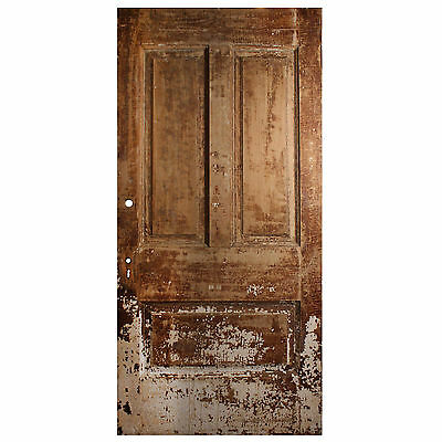 "Reclaimed Antique 40"" Three-Panel Door from Divine Lorraine Hotel, NED560"