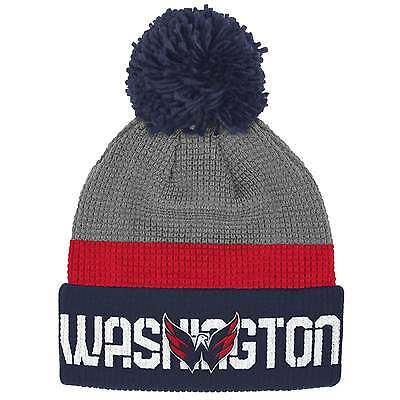 Reebok NHL Washington Capitals Center Ice Team Pom Knit