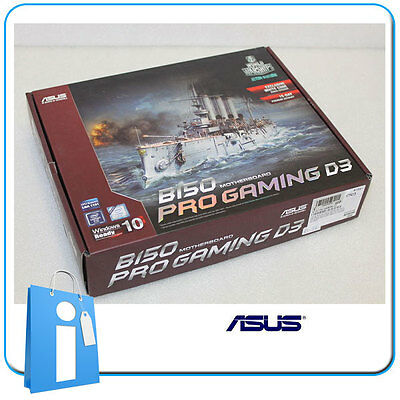 Placa base ATX ASUS B150 PRO GAMING D3 Socket 1151 DDR3 con Accesorios