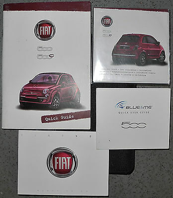 FIAT 500 500C QUICK GUIDE USER INFORMATION CD 2008-2016 CARS PRINT 2010 ref4979