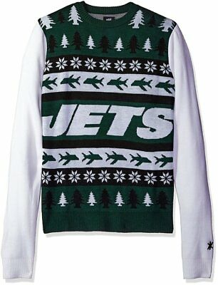 Adult Unisex National Football League New York Jets Ugly Christmas Sweater