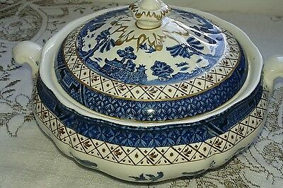 Booths real old willow lidded tureen