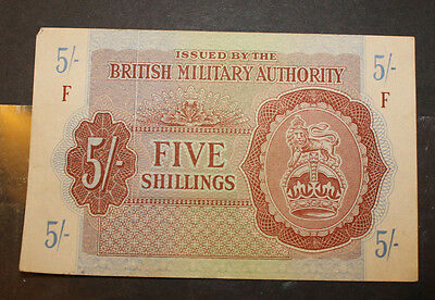 Great Britain British Military Authority Five Shillings Currency