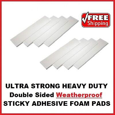 16x Number Plate Double Sided Foam Adhesive Fixing Pads Weatherproof Sticky Pads