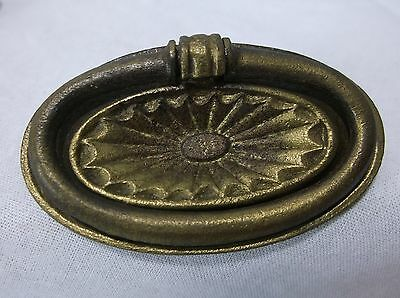 Vintage Antique Brass Sunburst Drawer Dresser Pull Knob Victorian Art Deco