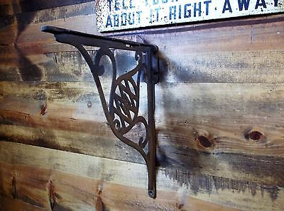 Large Huge Old Vintage Cast Iron Bracket Steampunk Industrial Outdoor Garden 1