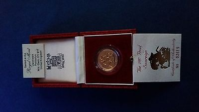 1987 proof full gold sovereign with certificate