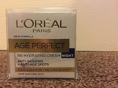 L'Oreal Paris Age Perfect Re-Hydrating Cream Night For Mature Skin - 50ml