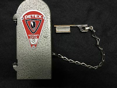 Vintage DETEX Watchman's Station #3 - Complete with Key - VG+ Vintage Condition