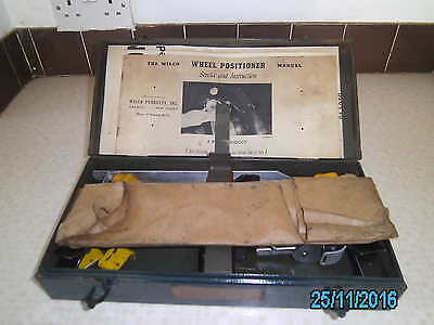 Wilco Wheel Positioner 1941, alignment, tracking, toe in, caster, camber