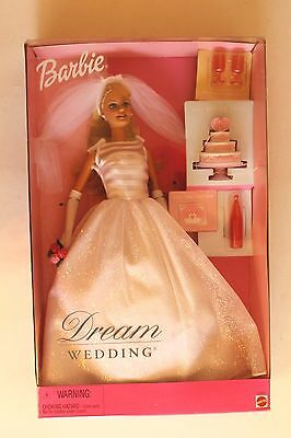 Dream Wedding Barbie - With Cake And Champagne  - Mattel  2000 - New -Nrfb
