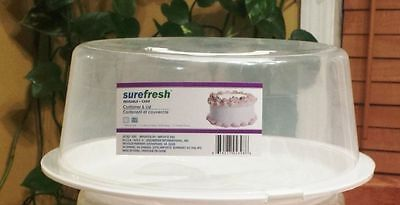 SURE FRESH CAKE/PIE STORAGE SAVER CARRIER with Locking Lid & Handle NEW