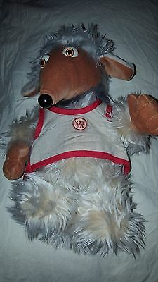 "Tomsk Womble Golden Bear The Wombles soft toy plush 12"" Film Fair Ltd 1998"