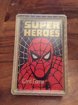 Marvel Super Heroes 1977 Vintage Spider-Man Hulk Avengers Card Game Top Trumps