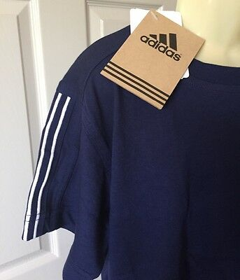 "Adidas Child's T-Shirt Top Navy Blue 30-32"" BNWT"