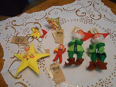 Lot of Vintage Annalee Christmas With Tags Some Rare