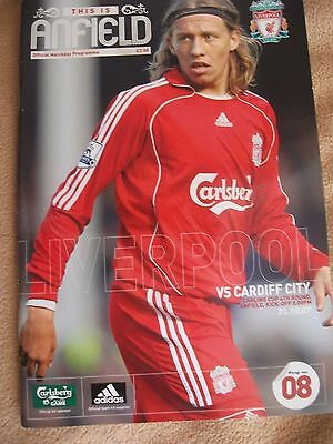Liverpool F.C. - Football Programme v Cardiff City, 31/10/07, Carling Cup