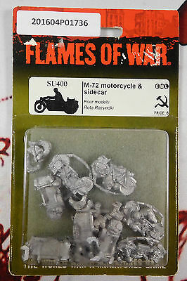 Flames of War [Soviet] M-72 Motorcycle and Sidecar [NIB]