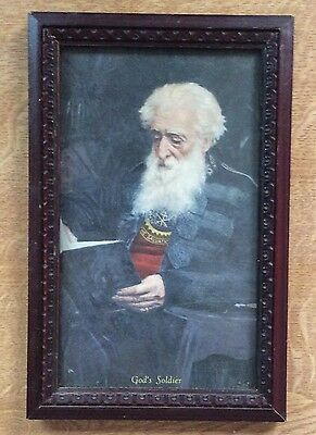 Vintage Framed Picture of William Booth - God's Soldier - Salvation Army