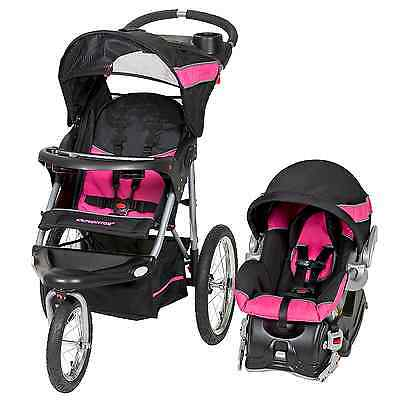 Baby Stroller And Car Seat Travel System Infant Jogging Girls Pink NO TAX