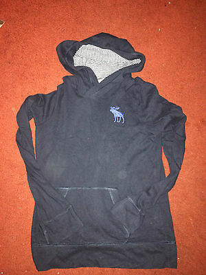 abercrombie kids boys hoodie top navy blue size M approx age 12/13