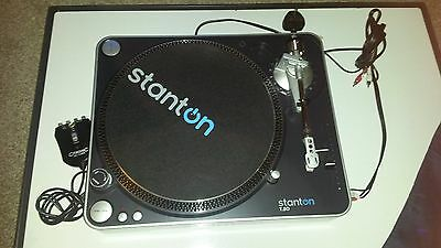 Stanton T50 turntable with cover and citronic AC-1USB