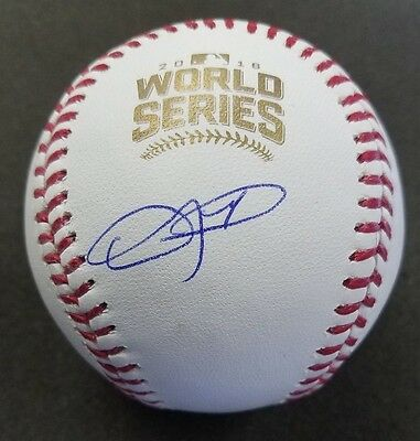 Dexter Fowler Cubs Autographed Mint Official 2016 World Series Baseball Schwartz