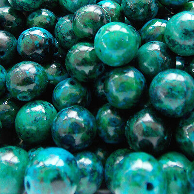 Green Chrysocolla Round Gemstone Beads various sizes *TOP QUALITY*  *UK SELLER*