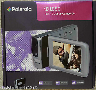 "Polaroid iD1880 18MP Full HD 1080p Digital Camcorder Camera with 2.7"" LCD Black"