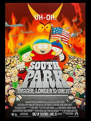 """South Park 16"""" x 12"""" Reproduction Movie Poster Photograph"""