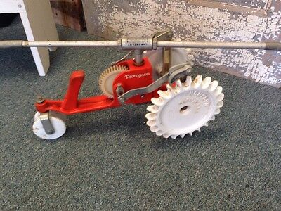 Vintage Thompson Walking Lawn Sprinkler Tractor Cast Iron Rain Train Spinning **