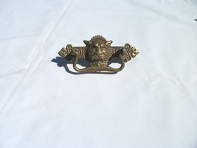 Antique Lion's Head Drawer Pull  East Lake / Victorian Brass