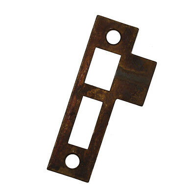 "Antique Strike Plates for Mortise Locks, 1/4"" Spacing, NSTP55"