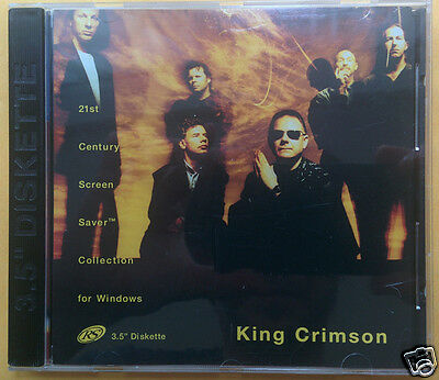 """KING CRIMSON 21st Century SCREEN SAVER COLLECTION For Windows 3.5"""" DISKETTE 95"""