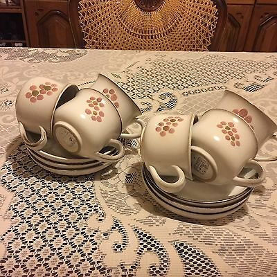 6 X Denby Gypsy Cups And Saucers